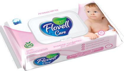 Влажные салфетки Flovell Care BIO 54