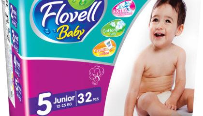 Подгузники Flovell Baby Junior (5)